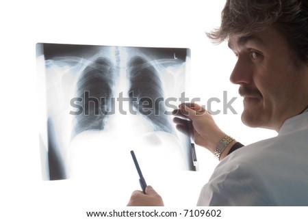 x-ray doctor - stock photo