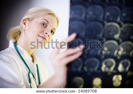 X Ray doctor with stethoscope