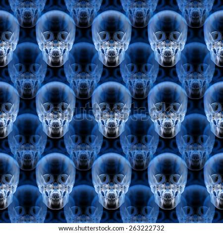 X-ray skull pattern - stock photo