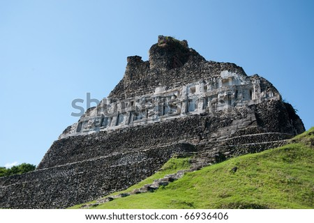 Xanantunich, ancient mayan ruins located in Belize, Latin america - stock photo