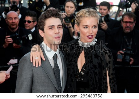 Xavier Dolan and Sienna Miller attend the 'Carol' premiere during the 68th annual Cannes Film Festival on May 17, 2015 in Cannes, France.  - stock photo