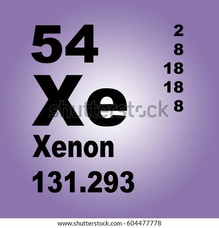 Xenon periodic table elements stock illustration 604477778 xenon periodic table of elements urtaz Image collections