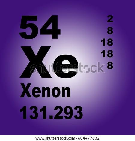 Xenon periodic table elements stock illustration 604477832 xenon periodic table of elements urtaz Images