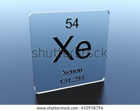 Xenon symbol on a glass square - stock photo