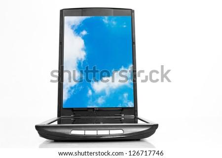 Xerox scanner business sky - stock photo