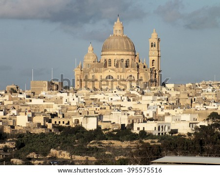 Xewkija Rotunda, Malta - stock photo