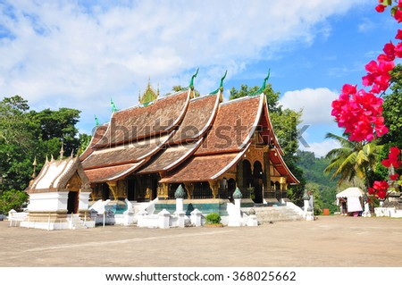 Xieng Thong Temple, Luang Prabang, Laos - stock photo