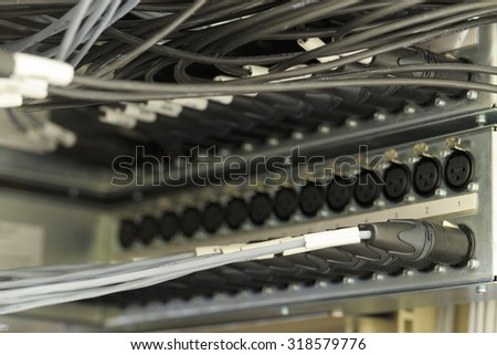 XLR connector - stock photo
