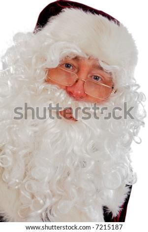 Xmas  background: Santa, gifts, kid. - stock photo