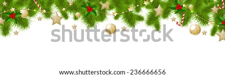 Xmas Border - stock photo