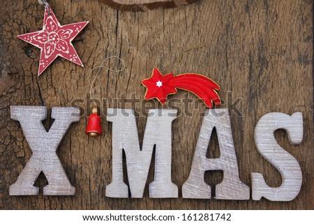XMAS Christmas text - stock photo