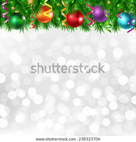 Xmas Silver Poster With Xmas Border