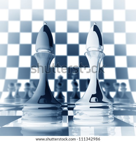 Xrey chess officer background  3d illustration. high resolution - stock photo