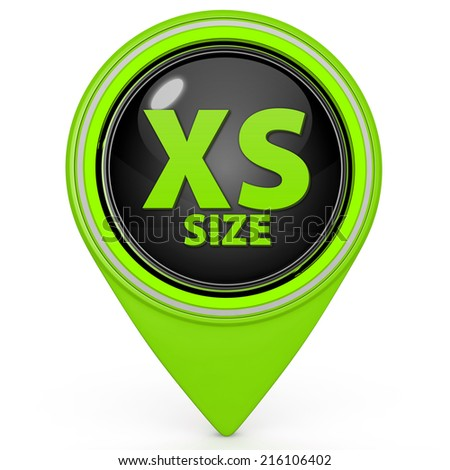 XS size pointer icon on white background