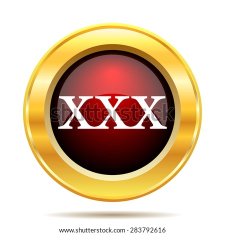 xxx icon. Internet button on white background.