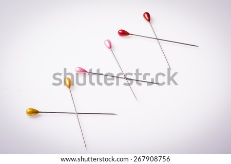 XXX inscription written with sewing pins. Suitable for adult themes, erotica and pornography. - stock photo