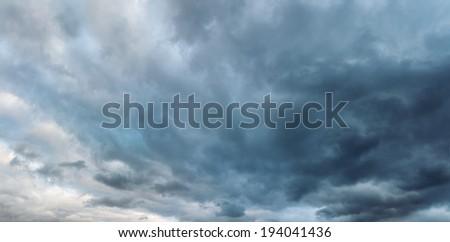 XXXL  Cloud sky panoramic photo - stock photo