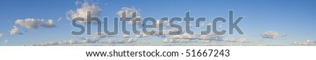 XXXL !!!! size - Blue sky and white clouds (Panoramas) - stock photo