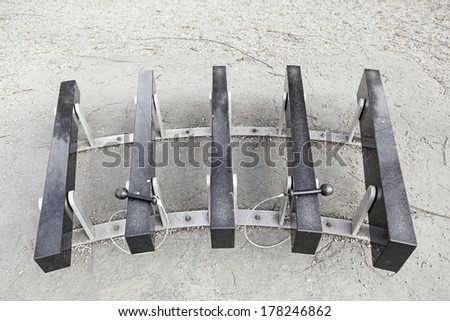 Xylophone stone street detail of ancient instrument made of marble, sound and traditional music - stock photo