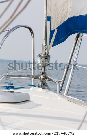 yacht fragment - stock photo