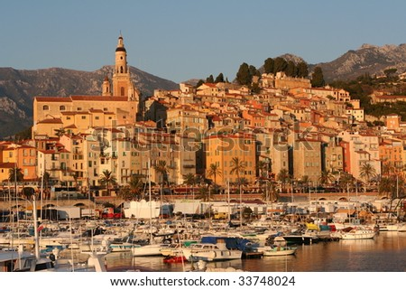 yacht harbor of Menton,France