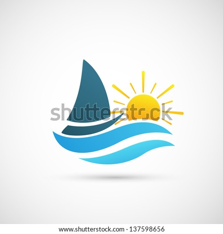 Yacht Icon jpg (EPS vector version id 131089553,format also available in my portfolio)  - stock photo
