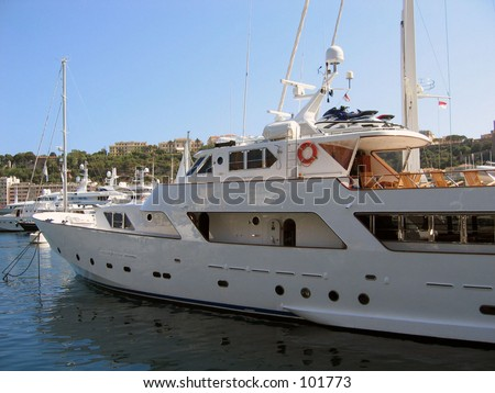yacht Monaco - stock photo