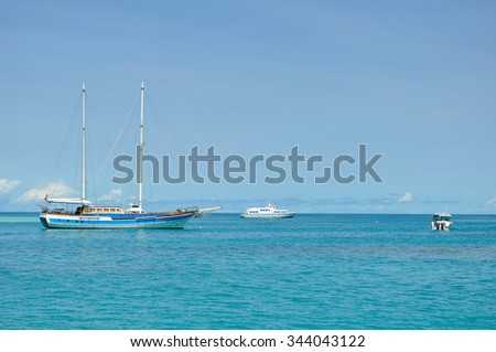 Yacht Sailing in a Sea
