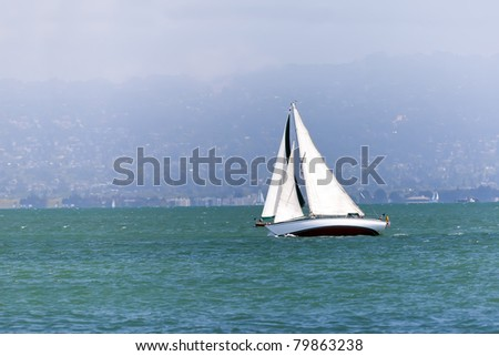 Yacht sailing in the San Francisco bay