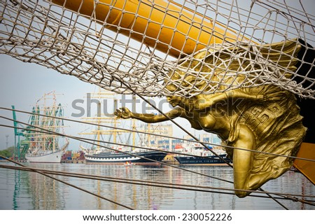 Yachting. Collection of ships and yachts - stock photo