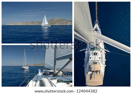 Yachting. Romanticism under sails - stock photo