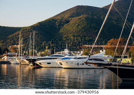 Yachts and boats in Montenegro