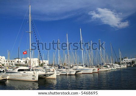 """Yachts in a """"Port el Kantaoui"""" - stock photo"""