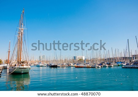 Yachts in Barcelona - stock photo