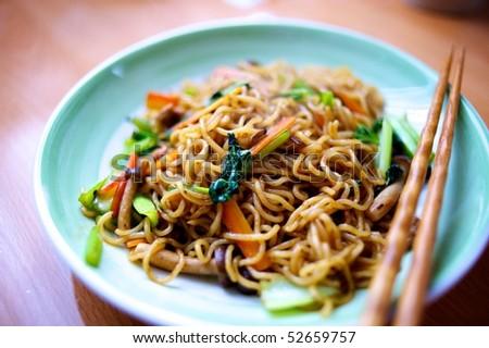Yakisoba Noodle - stock photo