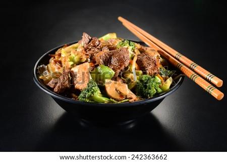 yakisoba noodles - stock photo