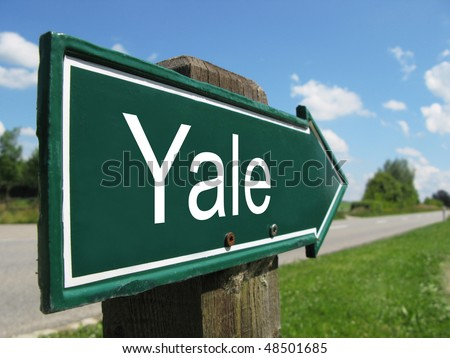 YALE road sign - stock photo