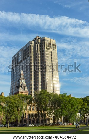 Yale University campus buildings, new haven, USA - stock photo