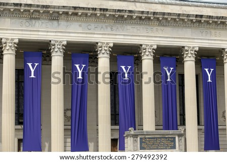 Yale University graduation ceremonies on Commencement Day on May 18, 2015. - stock photo
