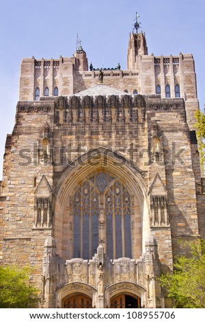 Yale University Sterling Memorial Library New Haven Connecticut Fifth largest library in the United States - stock photo