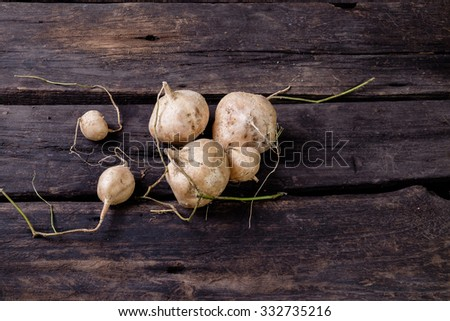yam on the wood