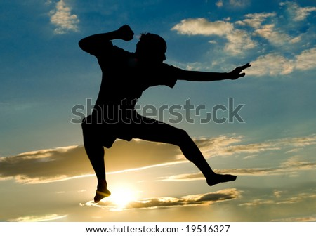 yang man jumping to the sky