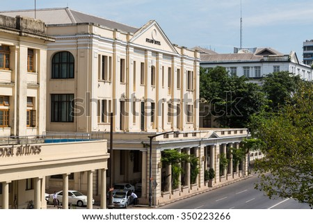 Colonial building stock images royalty free images for Upmarket hotel