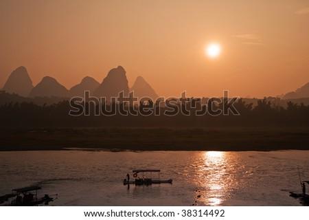 Yangshuo, Li river, Guangxi region, China - stock photo