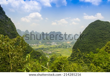 Yangshuo near Guilin, China - stock photo