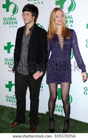 Yaniv Raz and Heather Graham at Global Green USA's 6th Annual Pre-Oscar Party. Avalon Hollywood, Hollywood, CA. 02-19-09