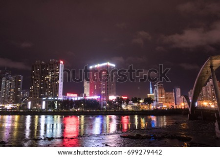 Yanji, China – August 8, 2017: Yanji is the seat of the Yanbian Korean Autonomous Prefecture in eastern Jilin province. The city is a hub of transport and trade between China and North Korea.