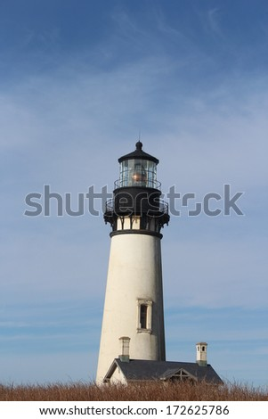 Yaquina Head Lighthouse - stock photo