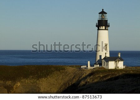 Yaquina Head Lighthouse - stock photo