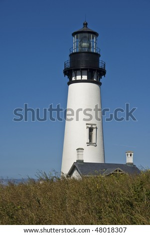 Yaquina Head lighthouse is located near Newport, OR, on the Pacific Coast.